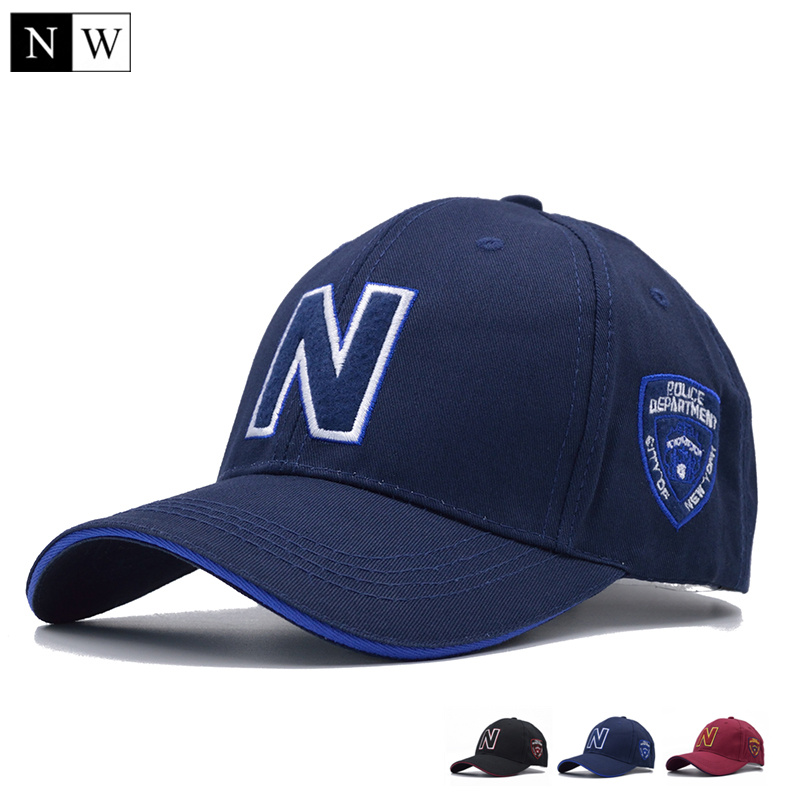 3 Colors Mens   Baseball     Caps   Brand Police   Cap   with N Letter Suede   Baseball     Caps   Women Snapback Adjustable for Adult