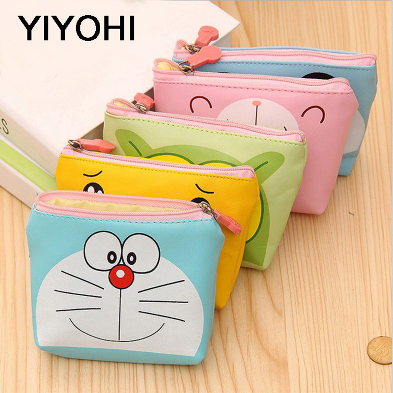 YIYOHI PU Cute Style Novelty Beautiful Gril Zipper Plush Square Panda /Duck/Bear Coin Purse Kawaii Children Bag Women Wallets купить