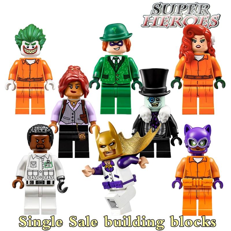 Building Blocks Penguin Poison Ivy Joker Catwoman Star Wars 2017 Batman Movie Super Heroes Action Bricks Kids DIY Toys Hobbies
