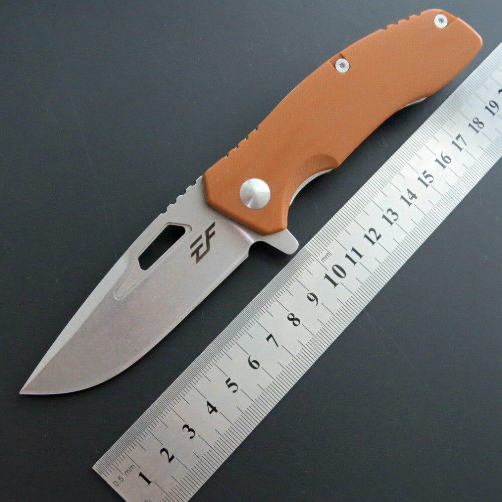 Eafengrow EF46 58-60HRC D2 Lâmina G10 Lidar Com Bolso faca Dobrável Camping Caça ferramenta de Sobrevivência Faca tático edc ferramenta ao ar livre