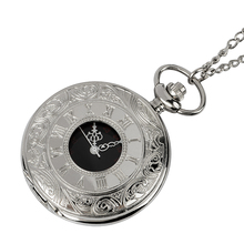цены Silver Roman Arabic digital quartz antique pendant pocket watch, men and women with mechanical clock necklace