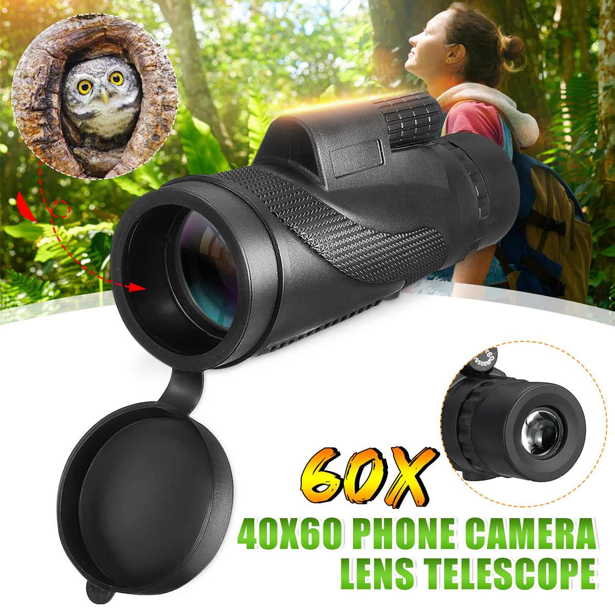 40x60 Monocular Powerful Binoculars High Quality Zoom Great Handheld Telescope lll night vision Military HD Professional Hunting40x60 Monocular Powerful Binoculars High Quality Zoom Great Handheld Telescope lll night vision Military HD Professional Hunting
