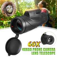 Monocular 40x60 potentes binoculares Zoom de alta calidad gran telescopio de mano lll visión nocturna militar HD caza profesional