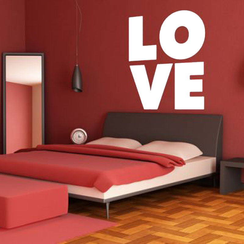 Dctop Diy Love Wall Sticker Vinyl Removable Art Headboard Home Decor Letters Wall Decal For Bedroom