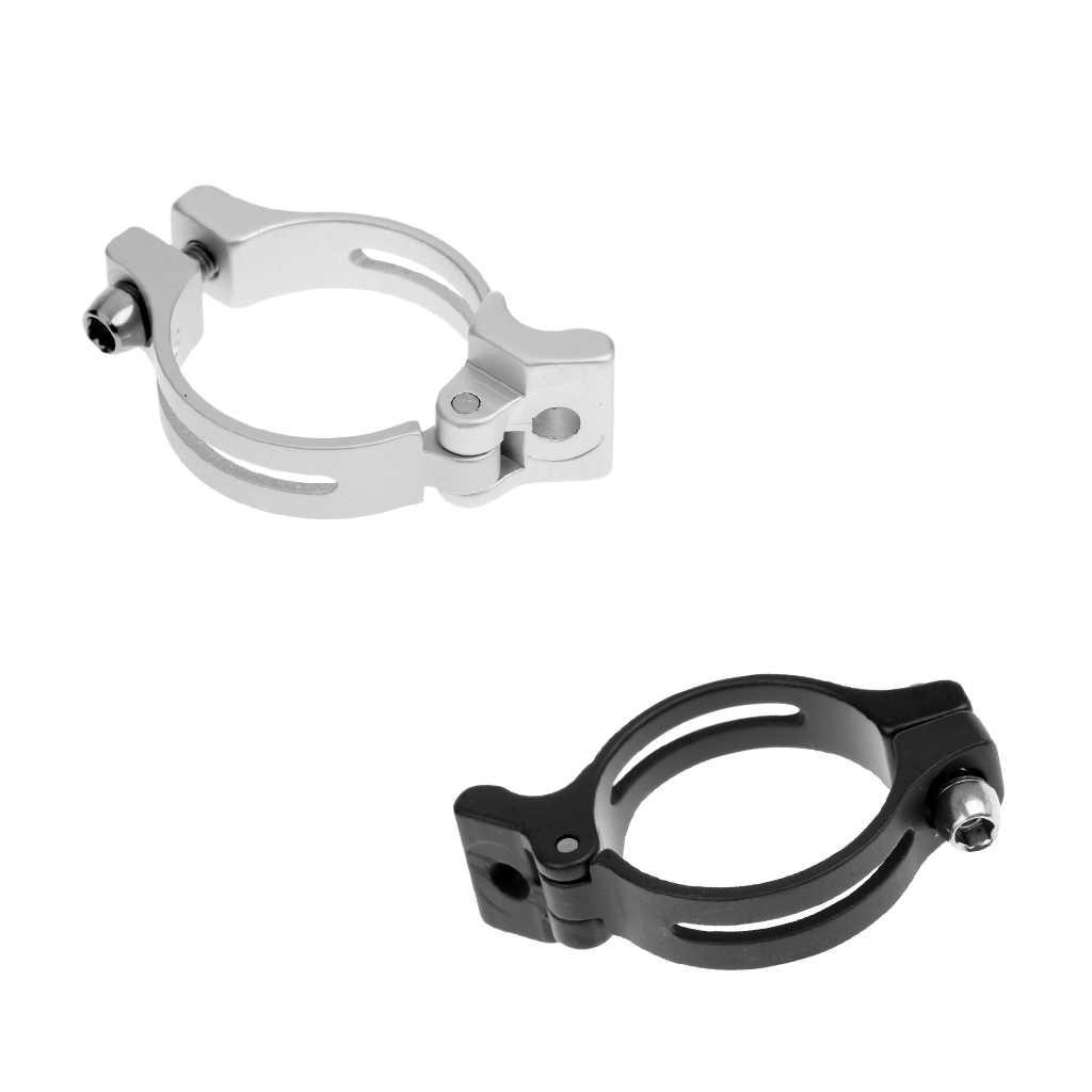 31.8//34.9mm Bike Cycling Lightweight Front Derailleur Braze-on Adapter Clamp TE
