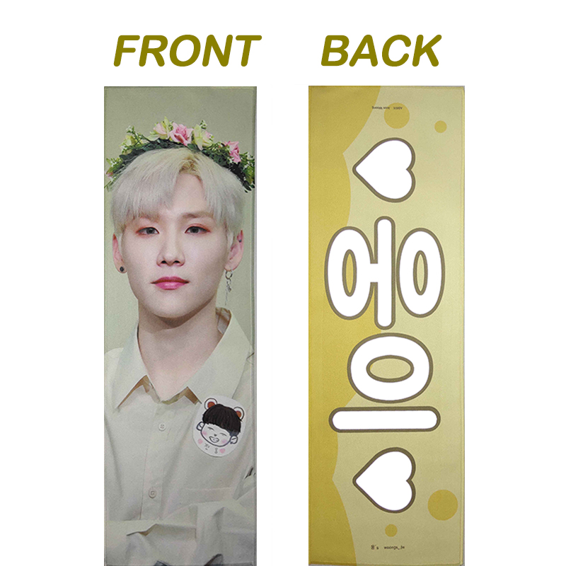 customized double sided suede reflective cheering kpop slogan towel for  concert JIN J-HOPE SUGA V JIMIN JUNGKOOK