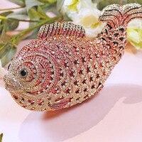 Custom annual fish party hand bag female diamond type bride fish Dinner Bag Handbag animal bag hand bag
