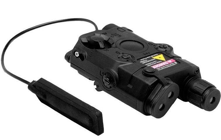 MIC AN/PEQ-15 W/Встроенный зеленый лазер и 270 люмен фонарик(черный