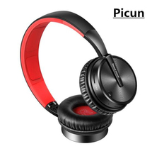 цены на Picun BT16 Bluetooth Wireless Headset Bluetooth Headset Leather Stand Metal Case Headphone Microphone Connect Mobile Phone  в интернет-магазинах
