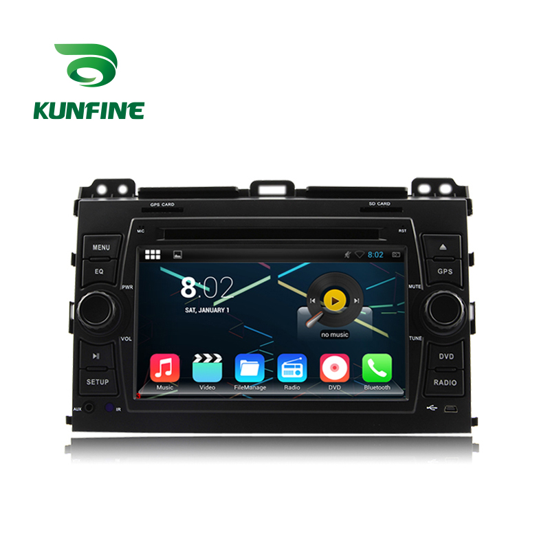 KUNFINE Android 7.1 Quad Core 2GB Car DVD GPS Navigation Player Car Stereo for PRADO Cruiser 120 2003-2009 Radio headunit WIFI
