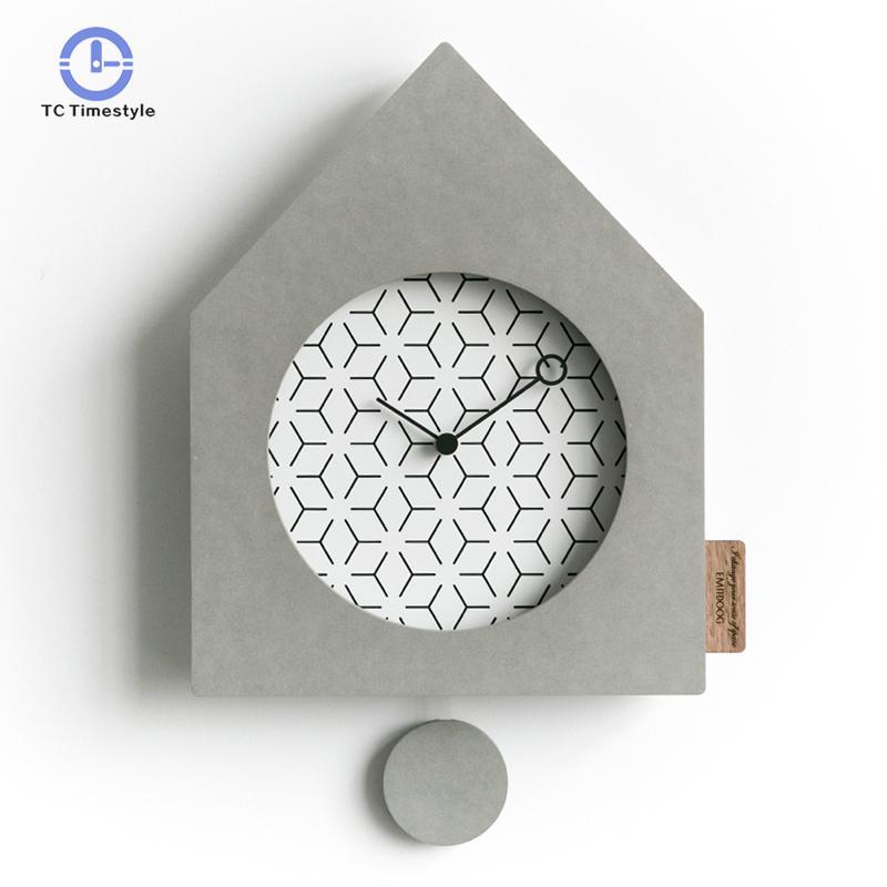 Horloge nordique horloge murale Simple Swing salon personnalité mode montres Creative chambre silencieux pendule montre murale