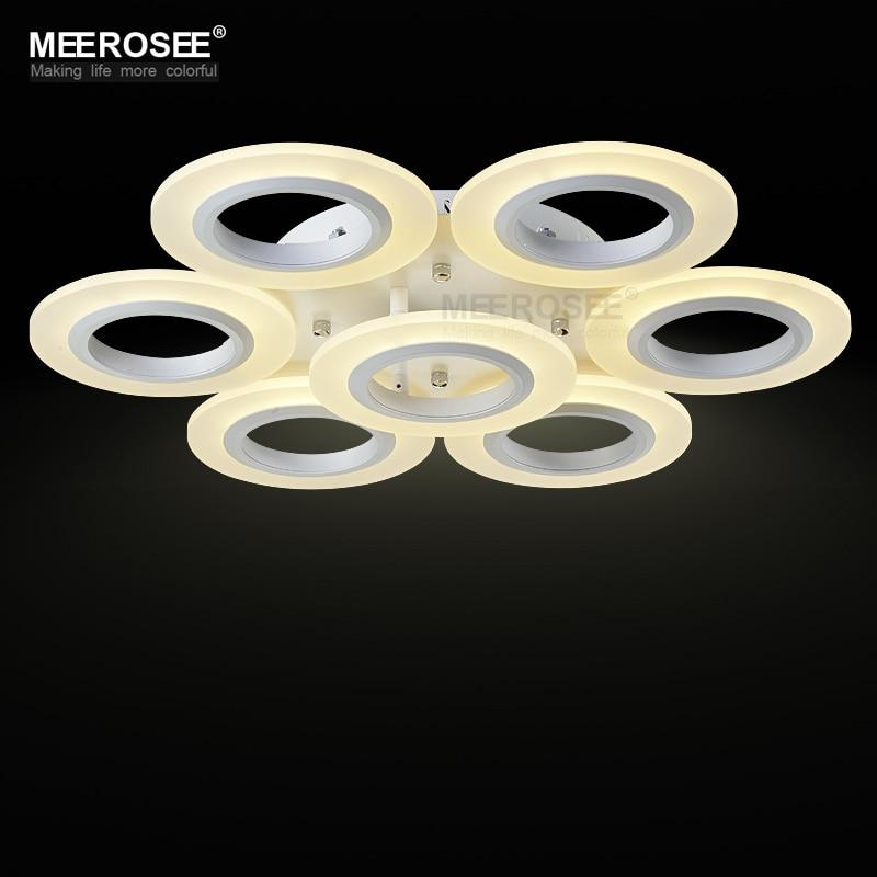 LED Ceiling Light Fixture Flush Mounted Multi Rings Acrylic White LED Aisle Ceiling Lamp Hallway Porch Light  Different sizes