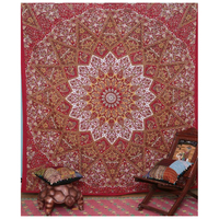 Indian Mandala Tapestry, 145x145cm, tapestry fabric, wall mandala tapestry, for home hotel Home Decor Free Shipping