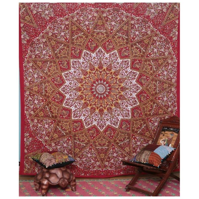 Indiano Mandala Arazzo, 145x145 cm, arazzo tessuto, mandala arazzo da parete, per la casa albergo Home Decor Spedizione Gratuita