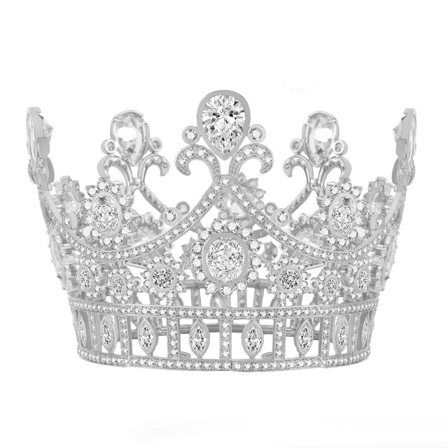 3.1 inch Height European Design Top Quality AAA Cubic Zirconia Tiaras and  Crowns Luxury Bridal Wedding Hair Jewelry Accessories 4d764010ccb9