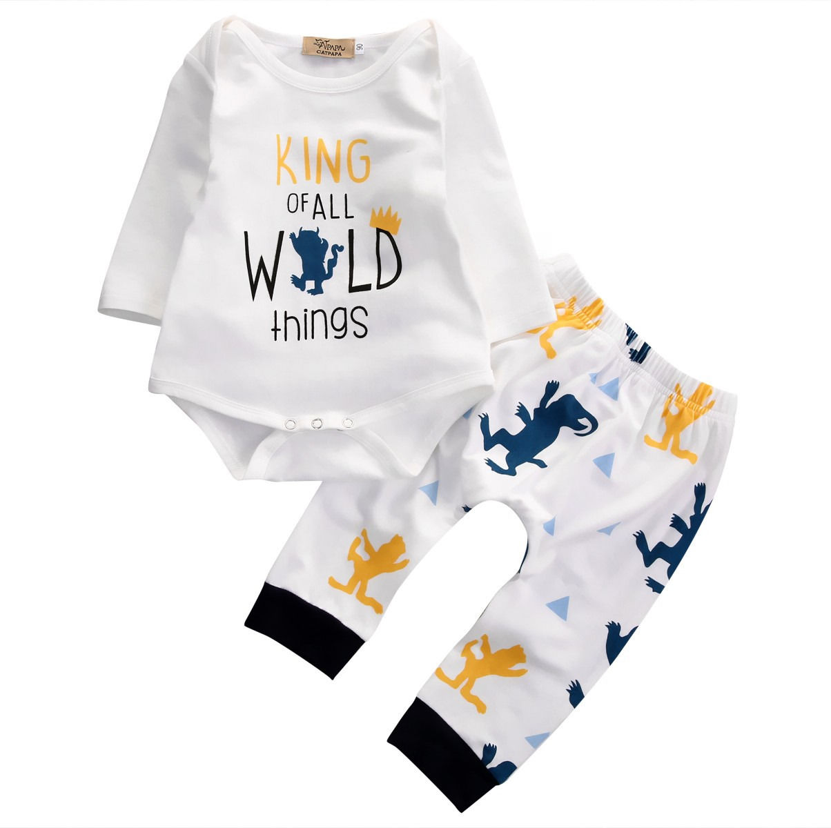 18e967482 2016 Autumn Fashion baby Boys clothes Baby Boys Long Sleeve Romper Pants  Leggings Outfits 2PCS Set newborn baby boy clothing set-in Clothing Sets  from ...
