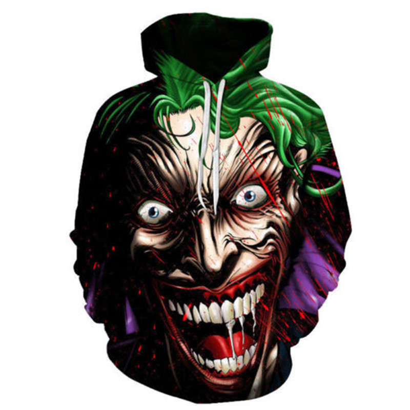 a9775153b6e New Fashion Men Women 3d Sweatshirts Long Sleeve Hoody Cap Digital Printing  Cool Batman Joker Hoodies Hooded Unisex Pullovers-in Hoodies   Sweatshirts  from ...