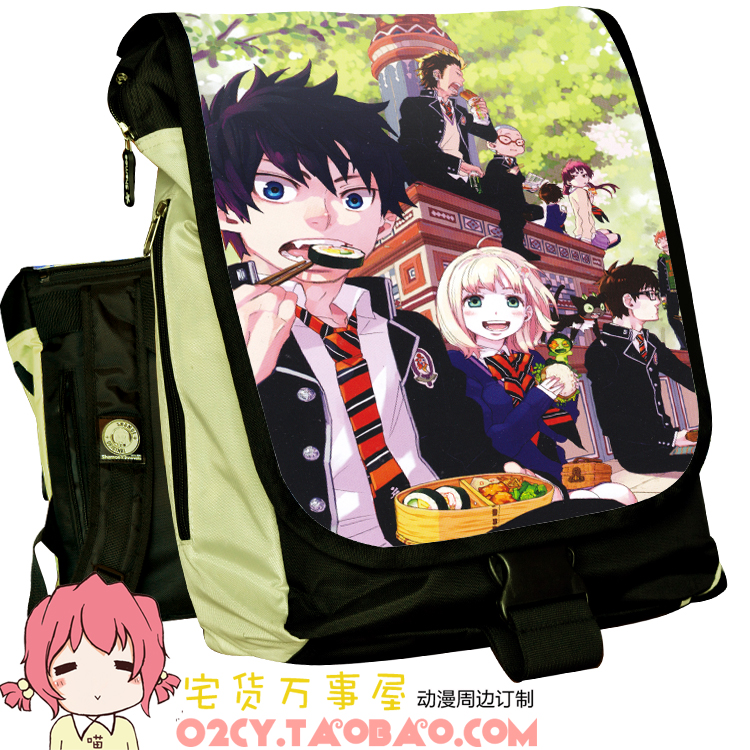 Anime Blue Exorcist Cosplay okumura rin Cos Anime backpack student male and female casual computer bag child birthday gift 2017 anime vocaloid kagamine rin ren len cafe maid dress cosplay costume o