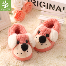 Winter Children Shoes Boys Girls Slippers Cute Cartoon Dog Kids Home Shoes Soft Comfortable Warm Winter Cotton Home Slippers