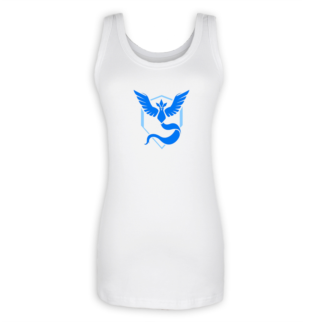Pokemon Go Game Fans Articuno Zapdos Moltres Team Blue Yellow Red Team Graphic Fitness Tank Tops for Lady Girl Summer Tops Women