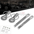 Prata Car Racing Motor Bonnet capa Pin Aleta Sobre Bloqueio de Segurança do Conjunto Kit universal