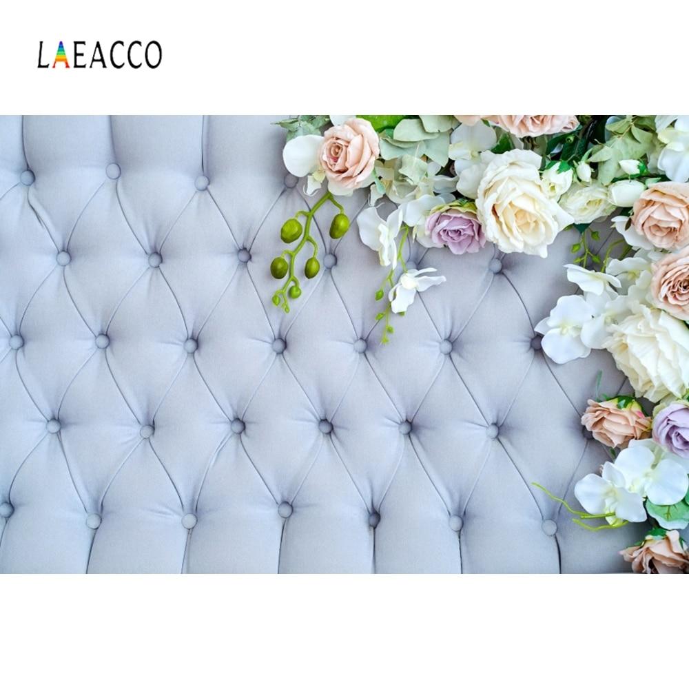 Laeacco Headboard Surface Flowers Diamond Baby Shower Portrait Customized Photography Photographic Backdrop For Photo Studio