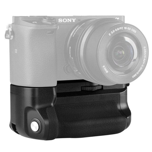 Meike MK A6300 Verticale Multi Power Battery Grip Mano per Sony A6300 A6000 A6400 di lavoro Della Macchina Fotografica con 1 o 2 NP FW50 batteria