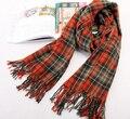 Стиль осень и зима дамы платье белый Green Orange шарф толщина компактный сетки шарфы копия шерсть глушитель