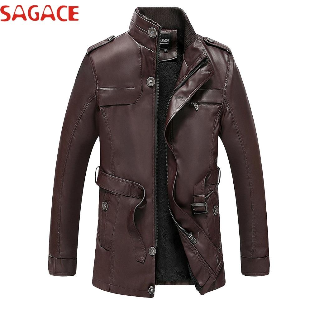 SAGACE veste marque vestes en cuir synthé