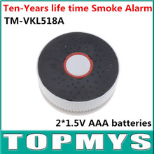 Battery-Operated Photoelectric Indoor Smoke alarm TM-VKL518A 2*AAA battery energy Smoke detector LED flashes pink buzzer alarm
