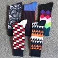 Los hombres en calcetines transpirables calcetines de rayas de algodón medias hombres desodorización manguera casual summer otoño hombre calcetines largos