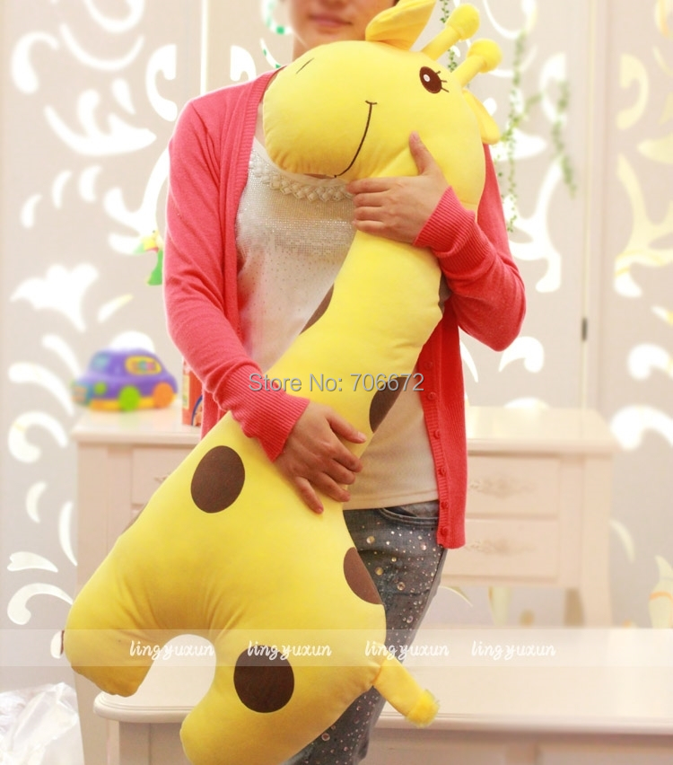 ФОТО huge 100cm lovely spotted giraffe plush toy doll throw pillow sofa cushion sleeping pillow gift t6000
