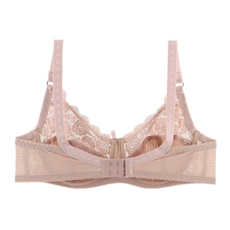 23f23bcb39344 ... PlusGalpret Soft Cup Bras For Plus Size Women Sexy Nude Lace Bralette  Bra bh 34D 36D ...
