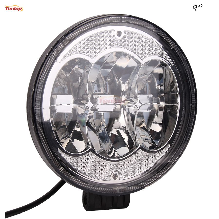 New 9 Inch Round 60W LED Headlight Worklight For Offroad 4 4 SUV ATV Tractor Boat