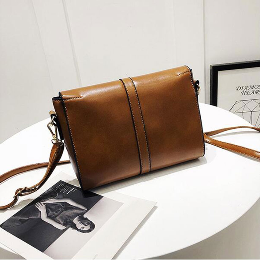 JIARUO Small Women Leather Crossbody bag purses Belt Flap Shoulder bag mini  handbag hand bag adjustable messenger bag-in Shoulder Bags from Luggage    Bags ... e3e30bd9210f4