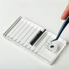 Sztuczne rzęsy podkładki przedłużające paleta Lashes Holder Lash Extension Supplies With Tick Mark amp Blossom Cup Lash Extension Tools tanie tanio yelix