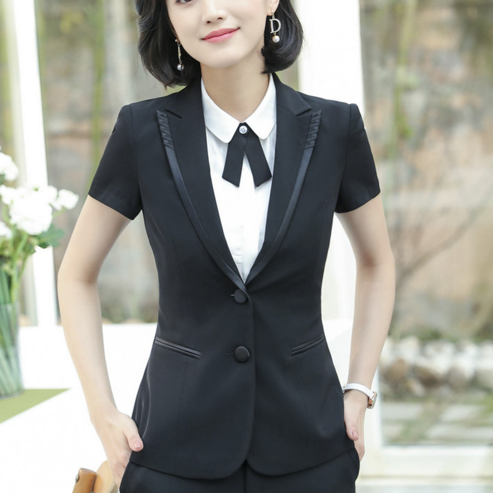 2018 Summer OL Short Sleeve Blazer Feminino Office Uniform Women Lady Female Business Interview Work Jaqueta Feminina Jacket