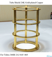 Free Shipping Tube Shield 24K Gold Plated Pure Copper For Tubes 300B 2A3 845 805 DIY