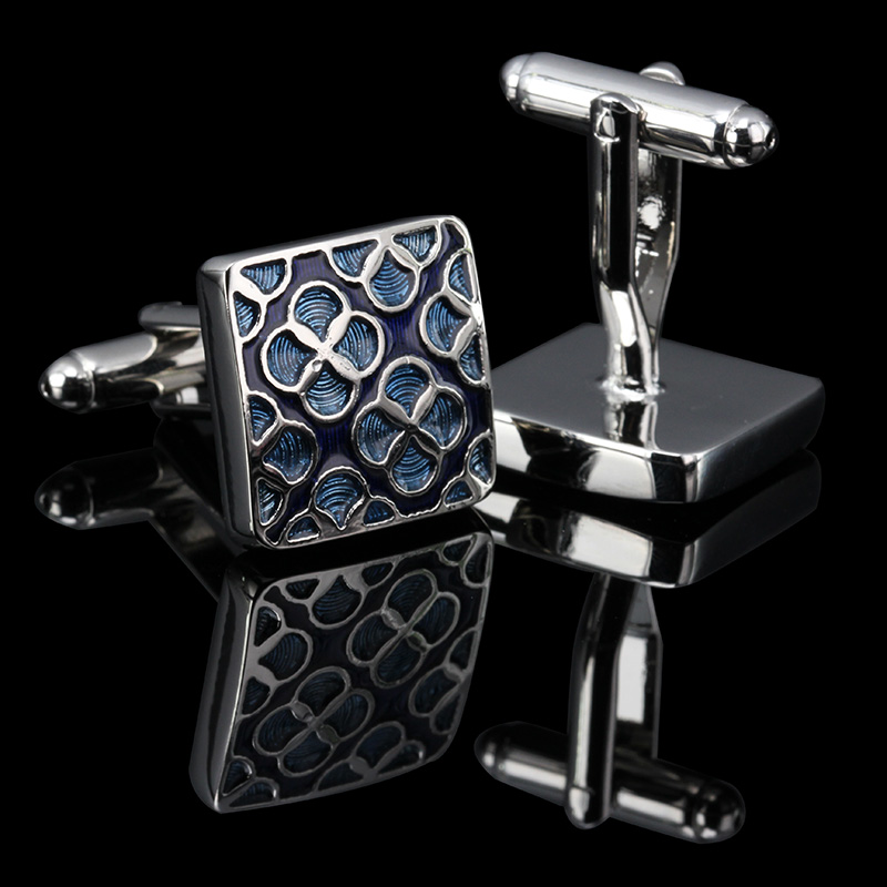 WN Luxury shirt cufflinks for mens Brand cuff button de manchette Colorful cuff links High Quality abotoaduras Jewelry(China)
