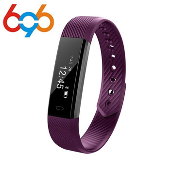 696 HOT ID115 Smart Wristband Bluetooth 4.0 Fitness Tracker Watch Alarm Clock Step Counter Sleep Monitor Sport Smart Bracelet Ba meanit m5