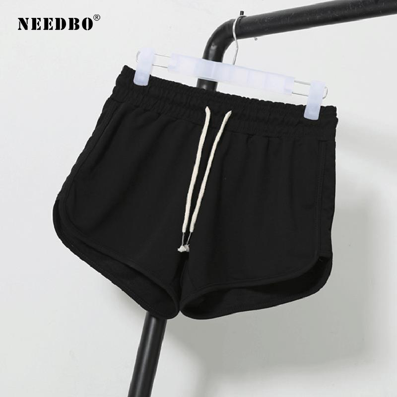 NEEDBO Gym Shorts Women Sport Running Black Fitness Shorts Female Plus Size Casual Workout Trunks Jogging Sexy Shorts For Women