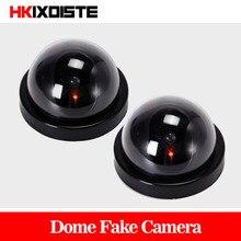 قيمة حزمة 2 قطعة وهمية CCTV فلاش كاميرا وامض LED وهمية كاميرا الأمن محاكاة فيديو كاميرا وهمية دي segurالشراء