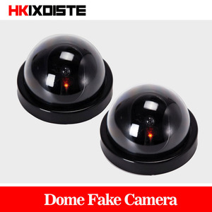Value Pack 2pcs Dummy CCTV Camera Flash Blinking LED Fake Camera Security Simulated video Surveillance fake camaras de seguridad(China)