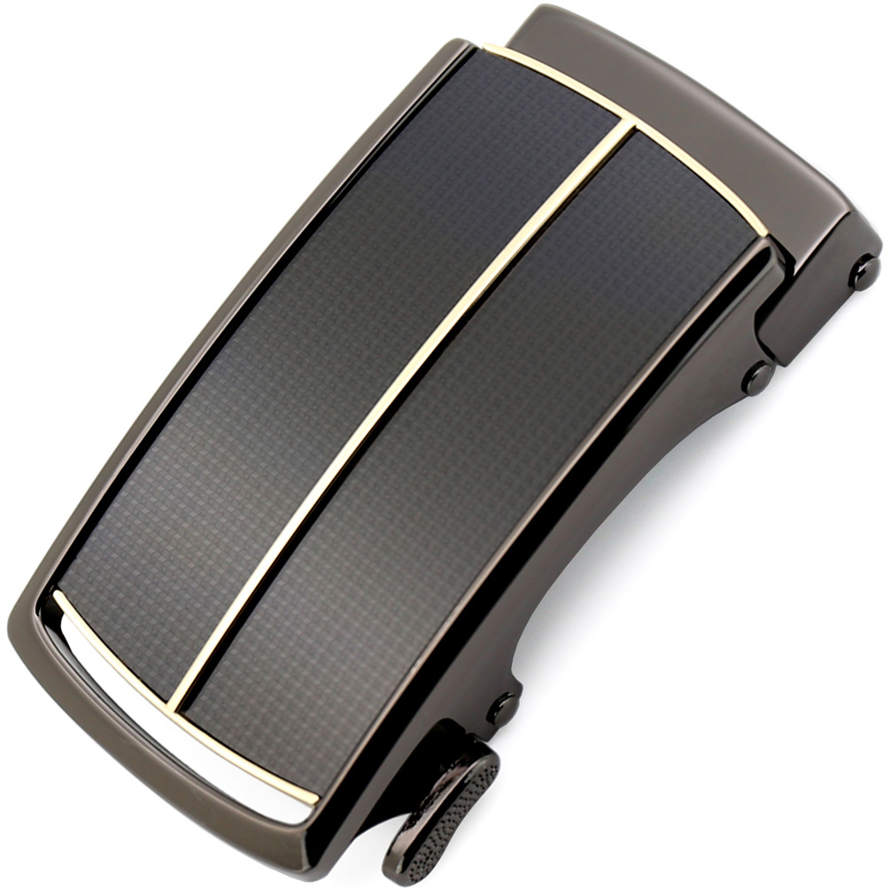 3.5cm Luxury Brand Designer Men Belt Buckle Genuine Cowskin Leather Belt Men Inner Through Automatic Buckle CE36-47