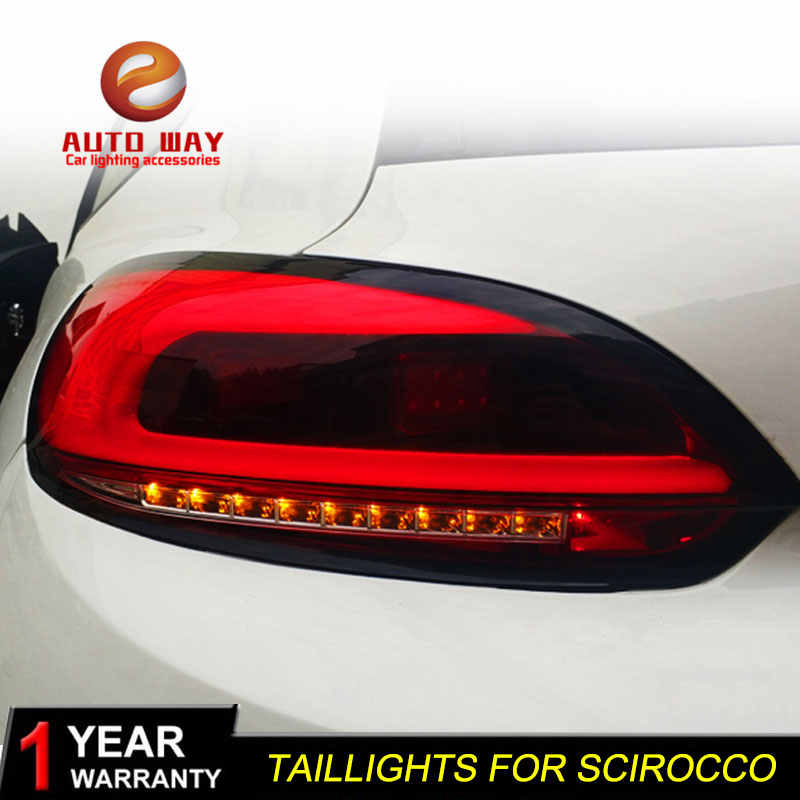 Car Styling For for Volkswagen VW Scirocco taillights LED 2014 2015 2016 2017 2018 VW Scirocco Tail Lamp rear trunk lamp