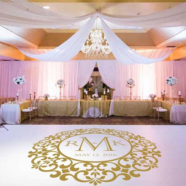 Wedding Dancing Floor Decal Custom Name Date Wedding Decor