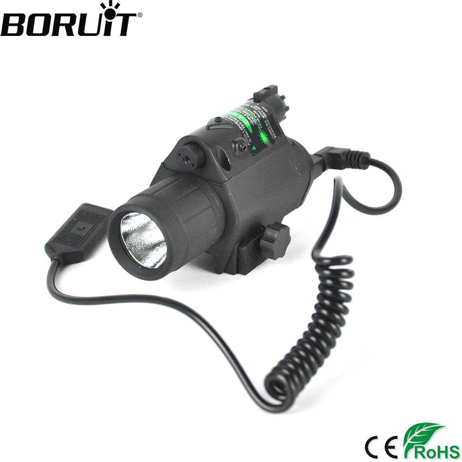 BORUiT Tactical Green Dot Mini Laser Sight With Tail Switch Scope Pistol with Lengthen Rat Tail Hunting Optics for Gun ontario knife rat 1