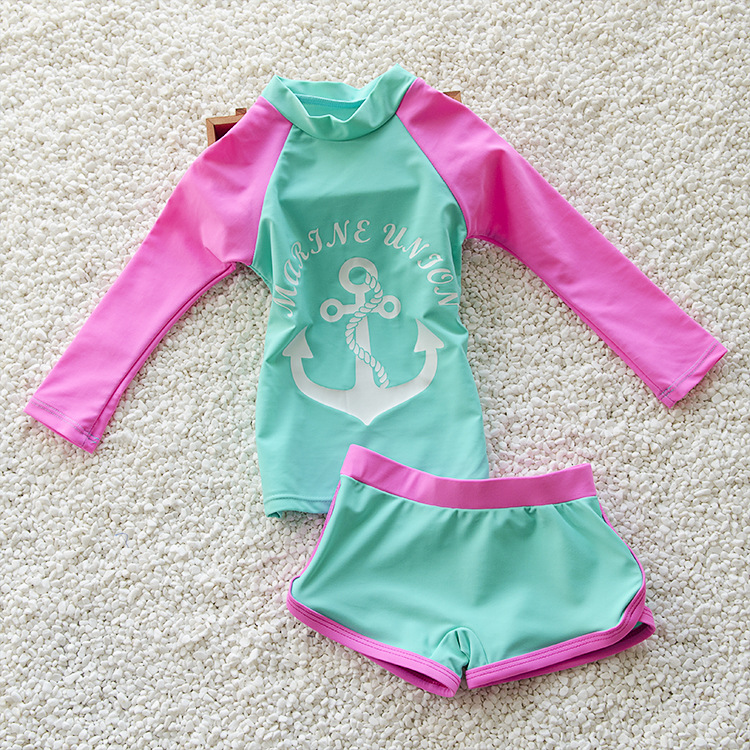 3f157fcd7a Detail Feedback Questions about New 2017 Girls Swimsuit Two Piece ...