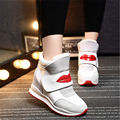 Fashion Suede 2016 Wedges High Heels Shoes thick with air sole Women's Casual High Tops Shoes Single Platform Women size 35-40