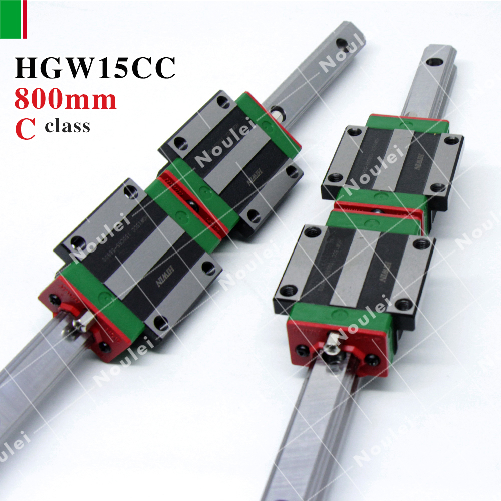 HIWIN HGW15CC HGW15CA  linear motion slider with guide rail HGR15 800mm for cnc table High efficiency hiwin hgh45ca slider for linear guide rail cnc diy kit